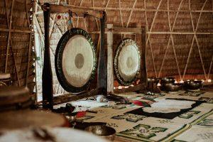 Gong in Yurt