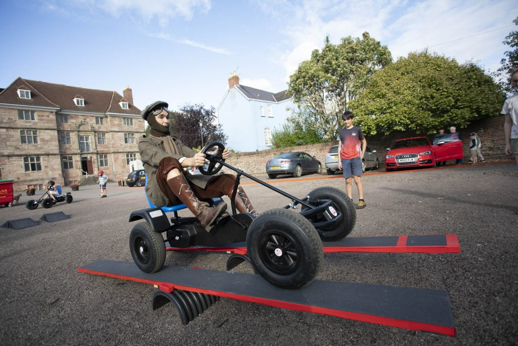 Charles Rolls on a go-kart