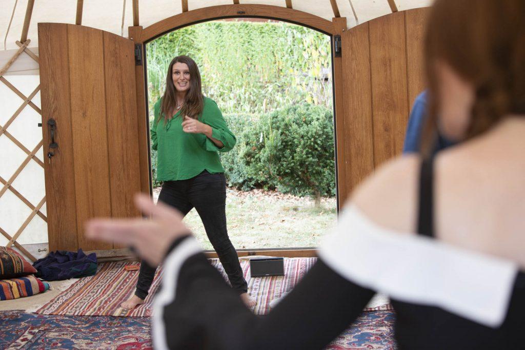 Ecstatic awakening dance workshop Rebecca Hanscombe