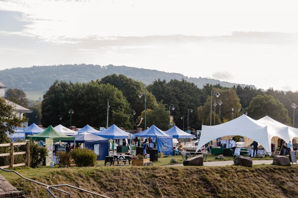 Stalls at the Green Spaces Zone