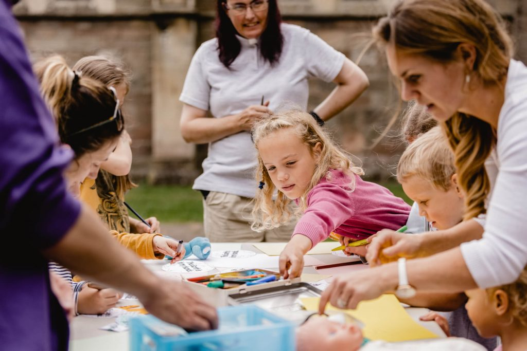 Childrens workshop at the Priory
