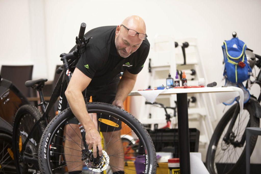 Bike maintenance workshop
