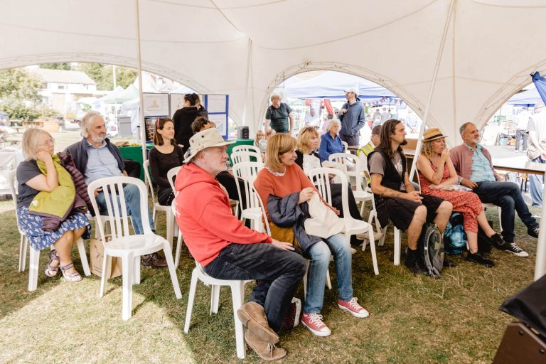 Talk in the marquee