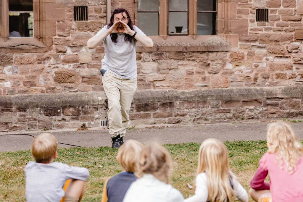 Workshop for children at the Priory